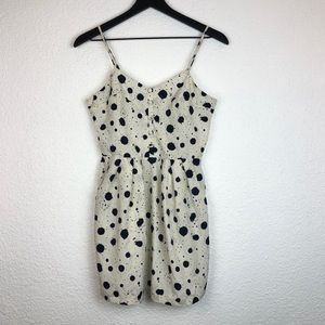 Greylin Splatter Spotted Dress Pockets Spaghetti S